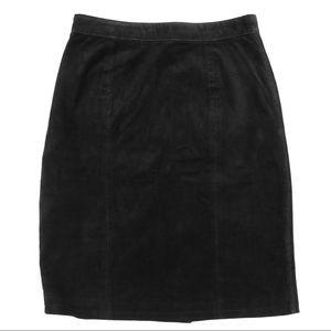 Vintage Black Suede Skirt